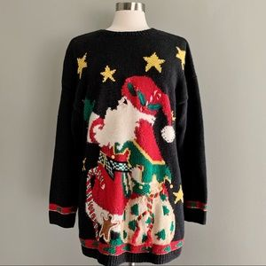 Knitted By Hand Talbots Christmas Sweater | XL